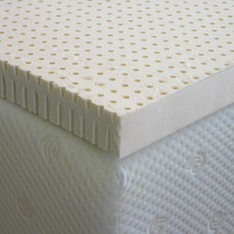 3 inch custom latex mattress topper on mattress - Custom Sleep Technology